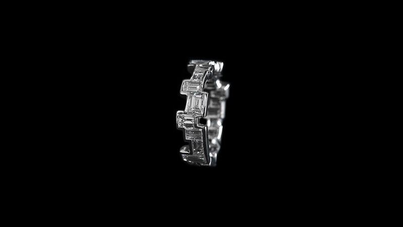 Baguette eternity ring